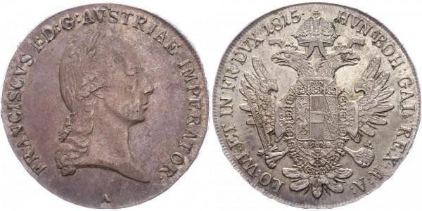 RDR/Österreich/Haus Habsburg Taler 1815A Wien Franz II. / I. ( 1792 - 1835 )