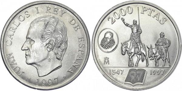 SPANIEN 2000 Pesetas 1997 - Don Quijote