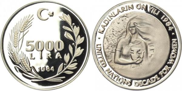 Türkei 5000 Lira 1984 - Jahrzehnt der Frau