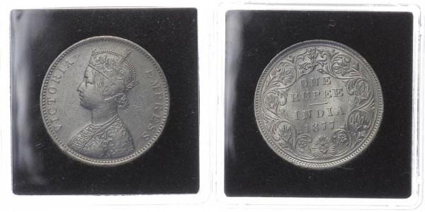 Britisch Indien 1 Rupie 1877 - Victoria