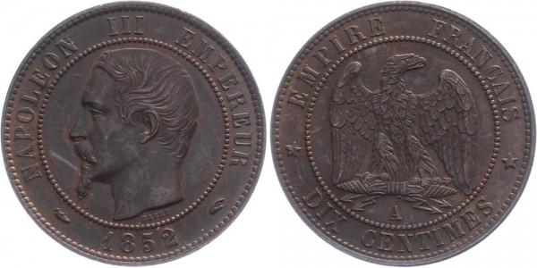Frankreich 10 centimès 1852 A Kursmünze
