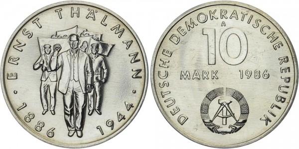 DDR 10 Mark 1986 A Geburtstag von Ernst Thälmann