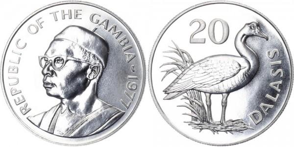 Gambia 20 Dalasis 1977 - Sporengans