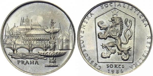 CSSR 50 Kč 1986 - Prag