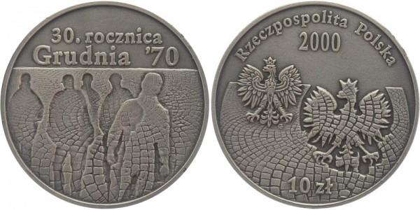 Polen 10 Zloty 2000 - 30 Jahre Austand der Werftarbeiter