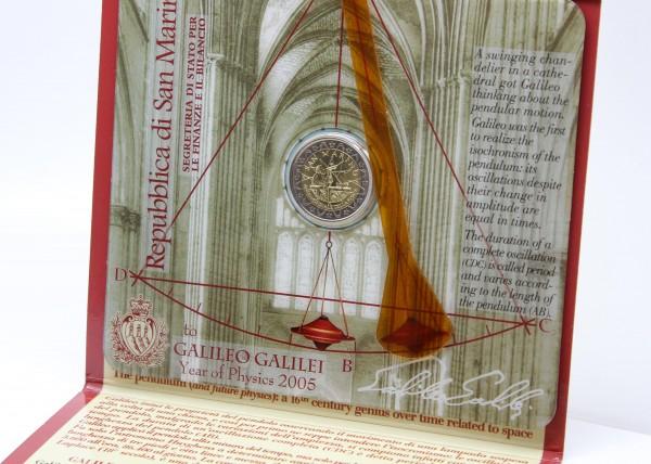 San Marino 2€ 2005 Galileo Galilei ( 1564 - 1642 )