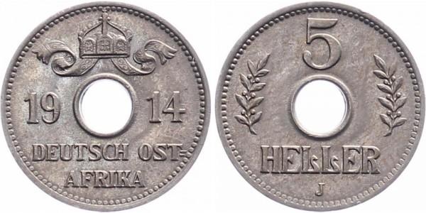 Deutsch-Ostafrika 5 Heller 1914 Hamburg
