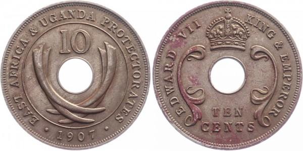 Ostafrika 10 Cents 1907 - Edward VII.