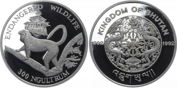 Bhutan 300 Ngultrum 1992 - Lemur