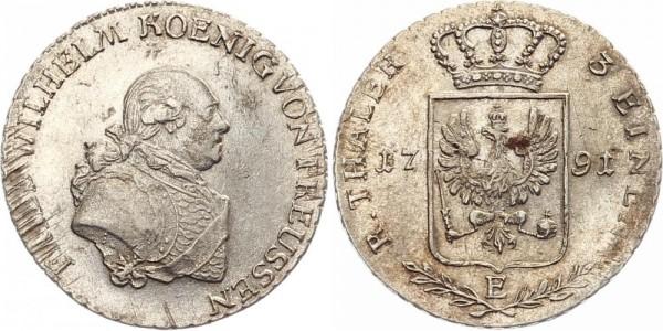 Preussen 1/3 Taler 1791 E Friedr. Wilhelm II.