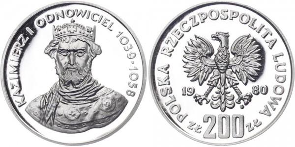 Polen 200 Zlotych 1980 - Herzog Kazimierz I.