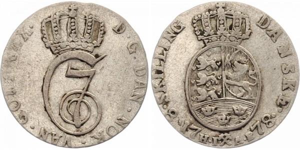 Norwegen 8 Schilling/Skilling 1778 - Christian VII.