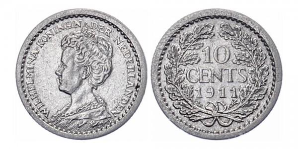 Niederlanden 10 cent 1911 - Kursmünze