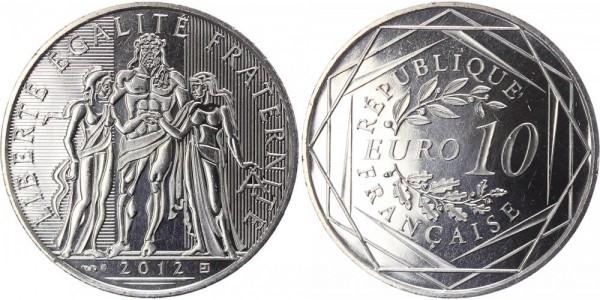 Frankreich 10 Euro 2012 Herkules