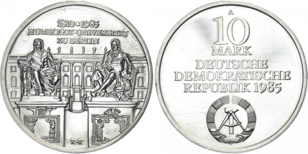 DDR 10 Mark 1985 A Humboldt-Uni Berlin