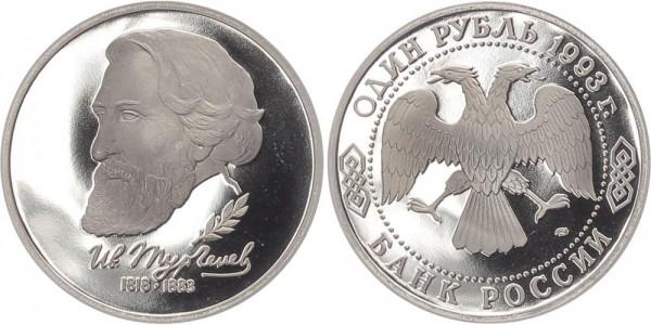 Russland 1 Rubel 1993 - Ivan S. Turgenev