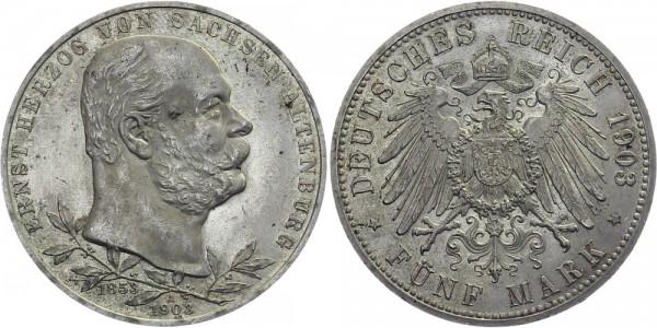 SACHSEN-ALTENBURG 5 Mark 1903 A Ernst Jubiläum