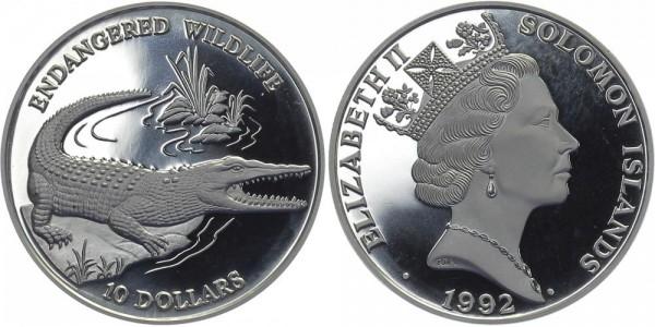 Solomon Inseln 10 Dollar 1992 - Krokodil