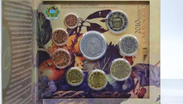 San Marino 3,88€ + 5€ 2010 Euro KMS, 5€ Silbermünze