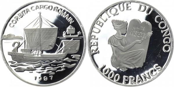 KONGO 1000 Francs 1997 - Corbita Cargo Romain