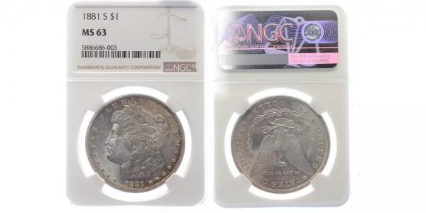 USA 1 Dollar 1881 S Morgan