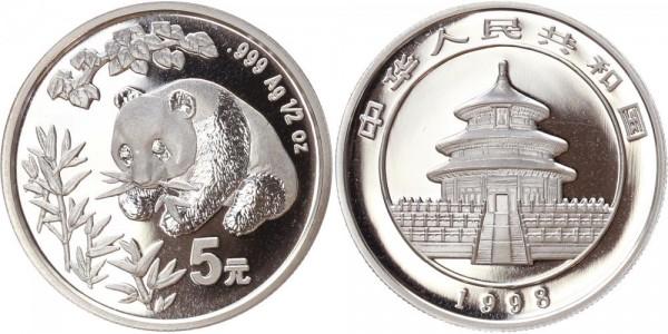 China 5 Yuan 1998 - Panda