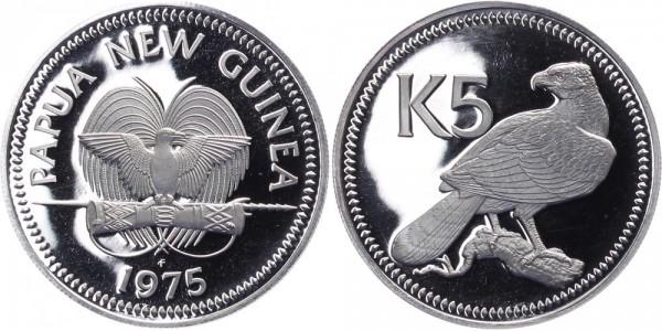 Papua Neuguinea 5 Kina 1975 - Neuguinea-Adler