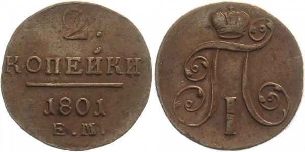 Russland 2 Kopeken 1801 - Paul I.