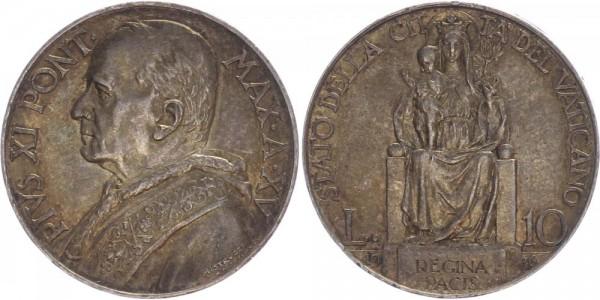 Vatikan 10 Lire 1936 - Pius XI.