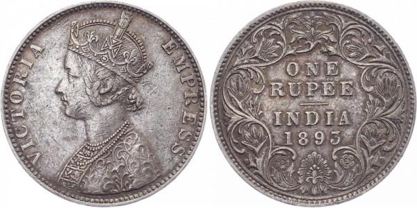 Indien 1 Rupie 1893 - Victoria