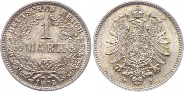 Kaiserreich 1 Mark 1875 F -