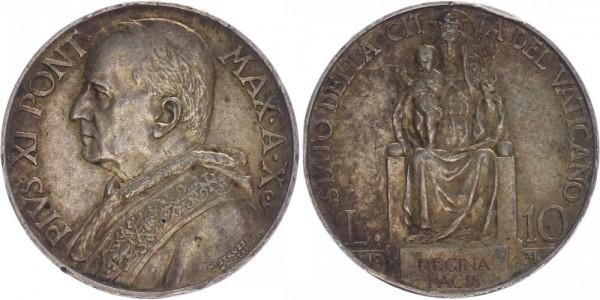 Vatikan 10 Lire 1931 - Pius XI.