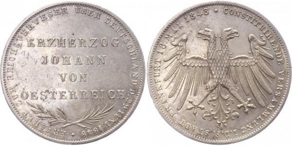 Frankfurt Doppelgulden 1848 - Erzherzog Johann v. Österreich