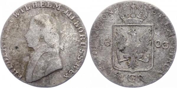 Preussen 4 Groschen 1803 - Friedrich Wilhelm III. 1797-1840