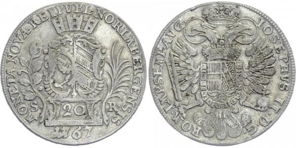 NÜRNBERG 20 Kreuzer 1767 - Kursmünze