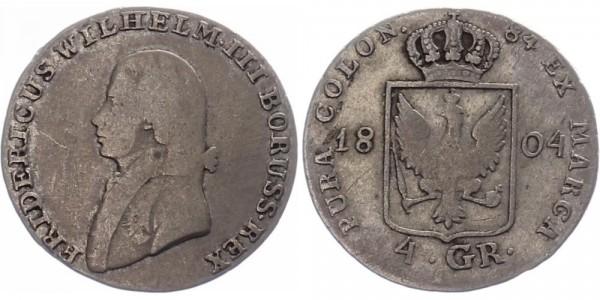 Brandenburg-Preußen 4 Groschen 1804 - Wilhelm III.