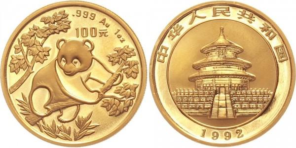 China 100 Yuan (1 Oz) 1992 - Panda