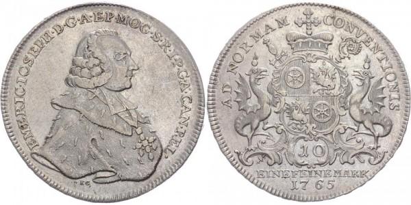 Mainz Taler 1765 - Emmerich Josef von Breitbach- Bürresheim 1763-1774