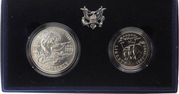 USA 1,5 Dollar 1995 - 50 Jahre Zweiter Weltkrieg