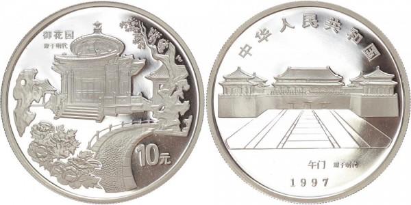 China 10 Yuan 1997 - Kaiserlicher Garten
