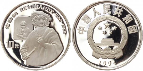 China 10 Yuan 1994 - Rembrandt