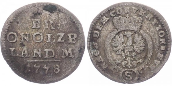 Brandenburg-Ansbach 2 1/2 Kreuzer 1778 - Alexander 1757-1791