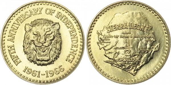 Sierra-Leone 1/2 Golde 1966 - 5 Jahre Unabhängigkeit