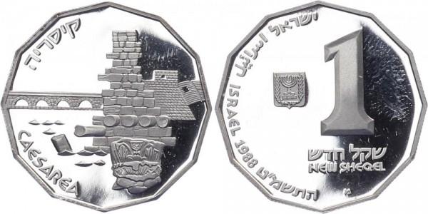 Israel 1 Neuer Sheqel 1988 - Ceasarea