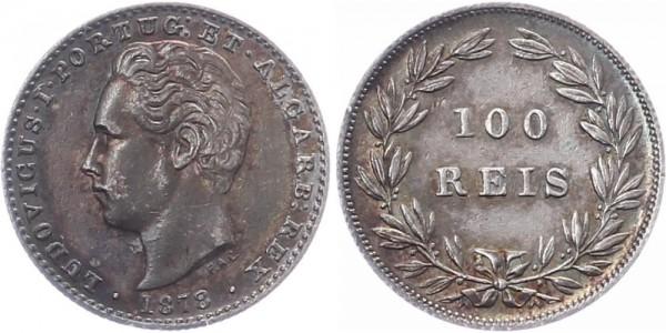 Portugal 100 Reis 1878 - Kursmünze