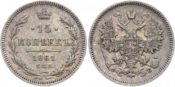 Russland 15 Kopeken 1861 Alexander II (1854-1881)