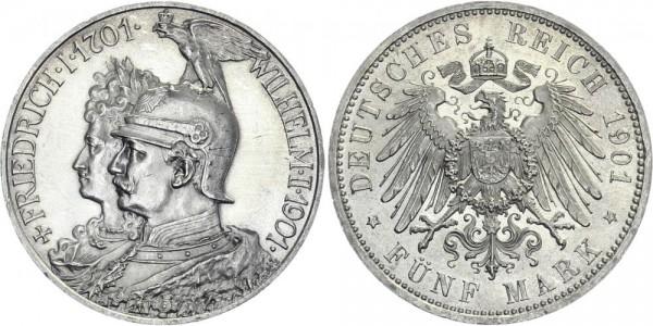 PREUSSEN 5 Mark 1901 A Wilhelm II. Pickelhaube