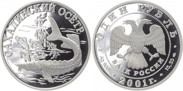 Russland 1 Rubel 2001 - Sachalinstör