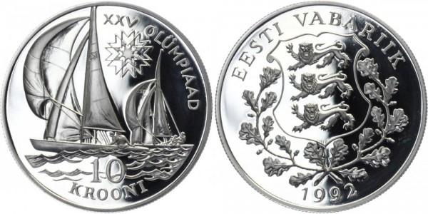 ESTLAND 10 Kronen 1992 - Olympische Spiele