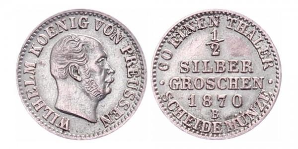 Preußen ½ Silbergroschen 1870 B
